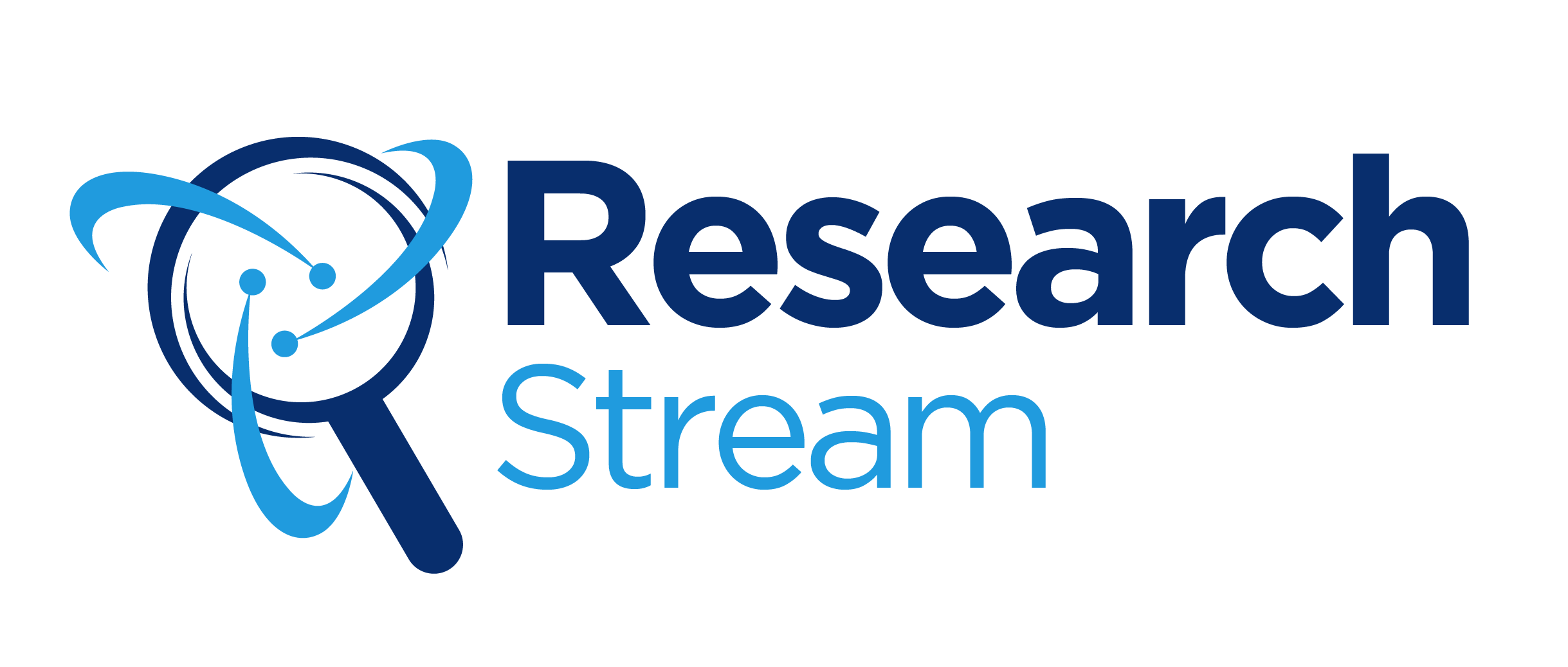 Research Stream main logo with words.